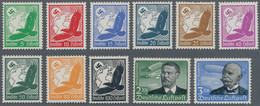 Deutsches Reich - 3. Reich: 1934, Flugpost, Postfrischer Satz, Teils In Normaler Zähnung, 25 Und 100 - Germania