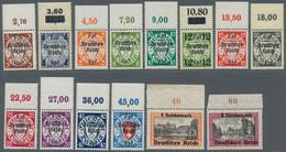 Deutsches Reich - 3. Reich: 1939, Danzig-Abschied, Komplette Serie Vom Oberrand, Postfrisch. - Germania