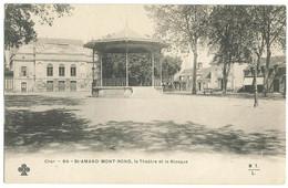 Précurseur De ST-AMAND-MONTROND (18) – Le Théâtre Et Le Kiosque. Editeur Trèfle CCCC Et MTL, N° 64. - Saint-Amand-Montrond