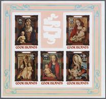 Thematik: Weihnachten / Christmas: 1984, Cook Islands. Progressive Proofs For The Souvenir Sheet Of - Christmas