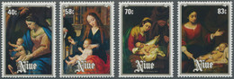 Thematik: Weihnachten / Christmas: 1984, NIUE: Christmas Complete Set Of Four With Different Paintin - Christmas