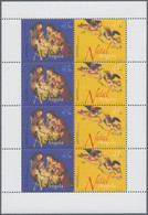 """Thematik: Weihnachten / Christmas: 2003, Angola: """"CHRISTMAS """", Complete Set Of 4 In Miniature Sheets - Christmas"""
