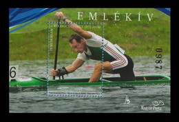 Hungary 2016 Two-time Olympic Champion In Canoeing György Kolonics MNH ** - Hojas Conmemorativas