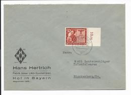 DR  863 EF - 24 Pf  20 J. Hitlerputsch Auf Umschlag Von Hof N. Blankenberg Bedarfsverwendet - Cartas