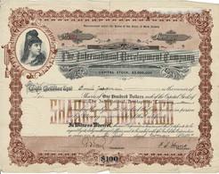 - Certificat De Valeurs Américaines - The International Development Company - Titre De 1897 - Déco - - Industry
