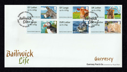 GUERNSEY 2016 Post & Go (Animals): First Day Cover CANCELLED - Guernsey