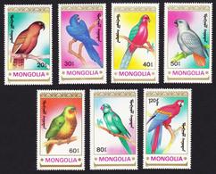 1990Mongolia2182-2188Birds / Parrots5,50 € - Papageien