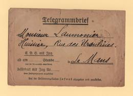Tresor Et Postes 3 - Enveloppe Telegramme Allemande - 8-1-1921 - 1877-1920: Periodo Semi Moderno