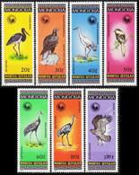 1985Mongolia1699-1705Birds10,00 € - Sperlingsvögel & Singvögel