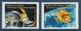 FRANCE 2015 50 Years Of Spatial Cooperation (Joint Issue With India): Set Of 2 Stamps UM/MNH - Francia