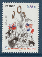 FRANCE 2015 70th Anniversary Of 8 May 1945: Single Stamp UM/MNH - Francia