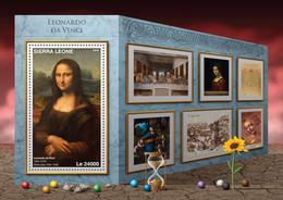 Sierra Leone 2016 Paintings Of  Leonardo Da Vinci - Sierra Leone (1961-...)