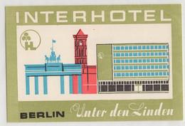 *  Germany Interhotel Berlin Hotel Label 99x66 Mm - Adesivi Di Alberghi