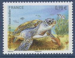 N° 4903 Tortue Verte Faciale 0,98 € - Francia
