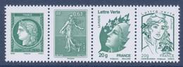 N° P4908/09 Et P4593/4774 Se Tenant Issus Du F4908 -  Faciale 2x0,61 € + 2 X Lettre Verte - Francia