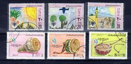 Libyen 6 Diverse, Gestempelte Briefmarken, 1980/81; Gem. Scan; Los 52634 - Libyen