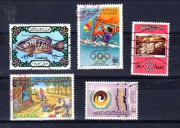Libyen 5 Diverse, Gestempelte Briefmarken, Gem. Scan; Los 52632 - Libyen
