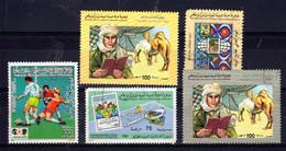 Libyen 5 Diverse, Gestempelte Briefmarken; Gem. Scan; Los 52635 - Libyen