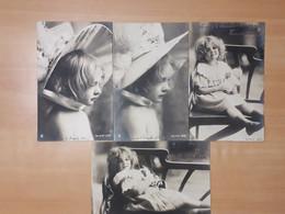 Série Complète De 4 Cartes Enfant Tendresse Fillette 1902 - Altri