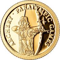Monnaie, Mongolie, Jeux Paralympiques - Archer, 500 Tugrik, 2008, CIT, BE, FDC - Mongolia
