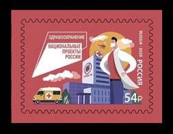 Russia 2020 Mih. 2931 Medicine. Health Care. Fight Against COVID-19 Coronavirus. Automobile MNH ** - Unused Stamps