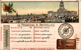 BRUXELLES Le Panorama De Bruxelles Carte Gauffrée - Unclassified