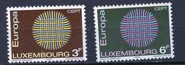 Europa CEPT 1970 Luxembourg - Luxemburg Y&T N°757 à 758 - Michel N°807 à 808 *** - 1970