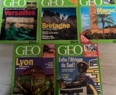 5 N° De Géo (1992/94) : N°160/161/166/180 & 190. - Geography