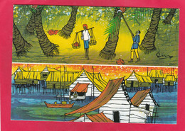 Modern Post Card Of Malaysian Batik Painting,National Art Of Malaysia,A106. - Malaysia