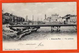 CPA - D30 - GRAU Du ROI - ( Gard ) - Oblitéré 1902 -  Vue  Générale  -  No 2 -  Avant  Le  Pont  Tournant  - - Le Grau-du-Roi