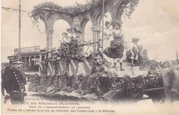 BAC19-  BORDEAUX   FETE DES VENDANGES  CHAR DE L'ARRONDISSEMENT DE LIBOURNE RUINES DU COUVENT ST EMILION - Bordeaux