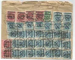 GERMANY INFLATIONS 30C LAUFEND 30CX30+ 250LX20+100L LETTRE COVER DEFAUT BONN 1.10.1923 TO SUISSE - Cartas