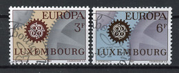 Luxembourg - Luxemburg 1967 Y&T N°700 à 701 - Michel N°748 à 749 (o) - EUROPA - Used Stamps