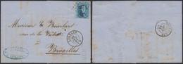 Médaillon Dentelé - N°15 Sur LAC Obl Pt 222 çàd Lokeren (1864) > Bruxelles / Fabrique De Chanvre & De Lin Peignés (n°41 - 1863-1864 Medaillons (13/16)