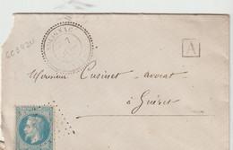 SOLIGNAC ( Haute Vienne - 87   )  -  Cachet Pointillé De 18.. Pour GUERET - 1849-1876: Periodo Clásico