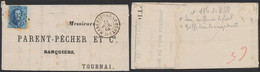 Médaillon Dentelé - N°15 Sur LAC Obl Pt 238 çàd Marchiene-au-pont (1865) > Tournai (Banquier) / Curiosité. - 1863-1864 Medaillons (13/16)