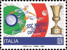 Italia • Italy (2020) Calcio/football: SSC Napoli Vincitrice Coppa Italia 2019/20 - Single Stamp (MNH) - Otros