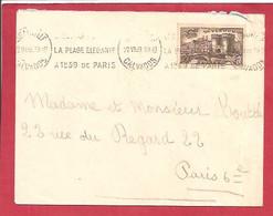 Y&TN°445 JEANVILLE  Vers   PARIS 6  1939 - Covers & Documents