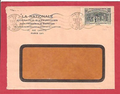Y&TN°444 PARIS 51  Vers   INCONNU  1939 - Covers & Documents