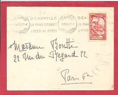 Y&TN°442 DEAUVILLE Vers   PARIS  1939 - Covers & Documents