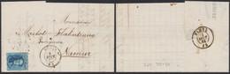 Médaillon Dentelé - N°15 Sur LAC Obl Pt 243 çàd Menin (1864) > Namur (Pl I N°129) - 1863-1864 Medaillons (13/16)
