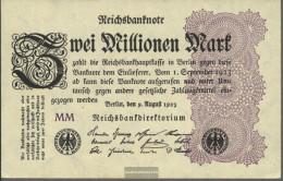 German Empire RosbgNr: 103e, Watermark Shaft Uncirculated 1923 2 Million Mark - 2 Millionen Mark