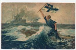 DC5044 - Ak Marine Der Letzte Mann - Sign Hans Bohrdt WK I - Guerre 1914-18