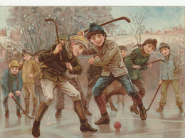 Enfant Grand Decoupi La Parti De Hockey 15.4 X 11 Cm - Children