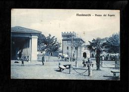 Cartolina  Montevarchi Piazza Del Popolo - Arezzo