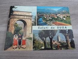 SALUTI DA SUSA - MULTI-VUES - EDITIONS MARINO - ANNEE 1980 - - Non Classificati