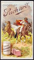 CHROMO Chocolat SUCHARD  Chevaux Cheval   Horses Cowboys  Serie 206 - Suchard