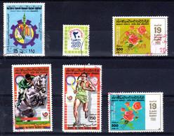Libyen 6 Diverse, Gestempelte Briefmarken; Gem. Scan; Los 52638 - Libyen