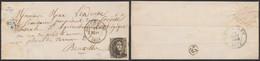 """Médaillon - N°6 Touché Sur LAC Obl D45 Oostmalle (1854) + Boite Rurale """"C"""" (Zoersel) > Bruxelles - 1851-1857 Medallions (6/8)"""