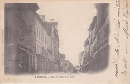 BAC19-  RIBERAC  EN DORDOGNE  CPA PRECUSEUR  RUE DE L'HOTEL DE VILLE VOIR VERSO  CPA  CIRCULEE - Riberac